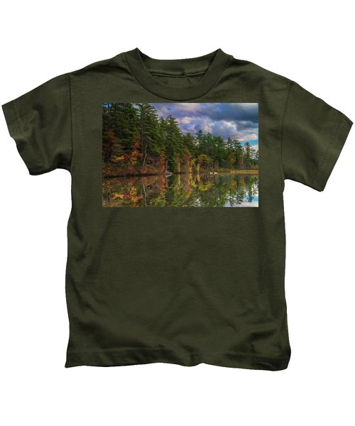 Color At Songo Pond Kids T-Shirt