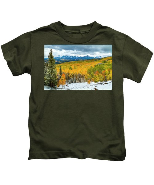 Colorado Valley Of Autumn Color Kids T-Shirt