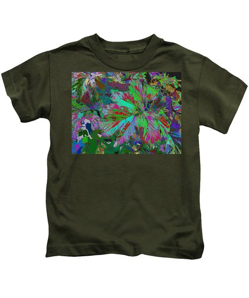 Colorfication - Leafy Colored Kids T-Shirt