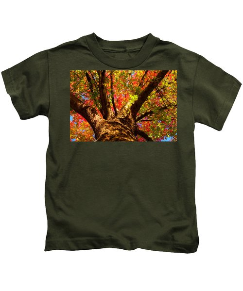 Colorful Autumn Abstract Kids T-Shirt
