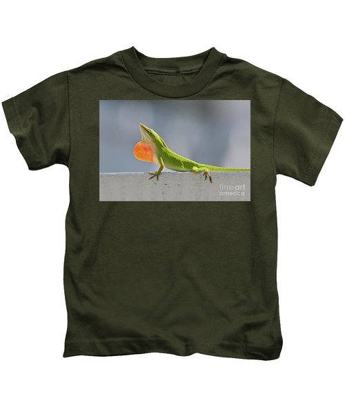 Colorful Carolina Anole Lizard Kids T-Shirt