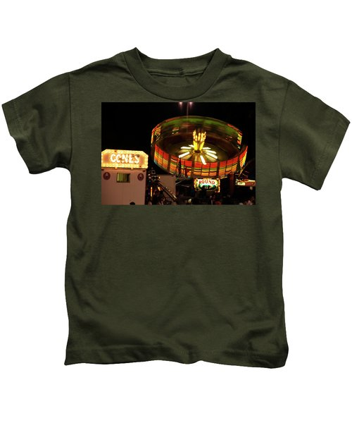 Colorful Round Up Wheel Kids T-Shirt