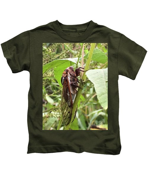 Colorful Summer Cicada Kids T-Shirt
