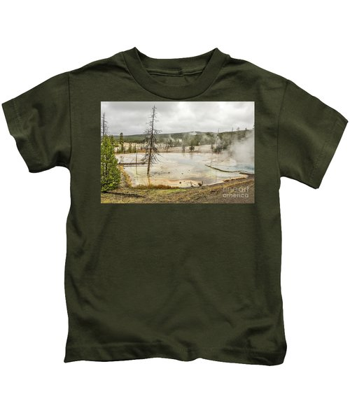 Colorful Thermal Pool Kids T-Shirt