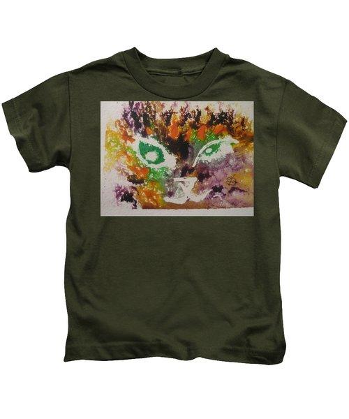 Colourful Cat Face Kids T-Shirt