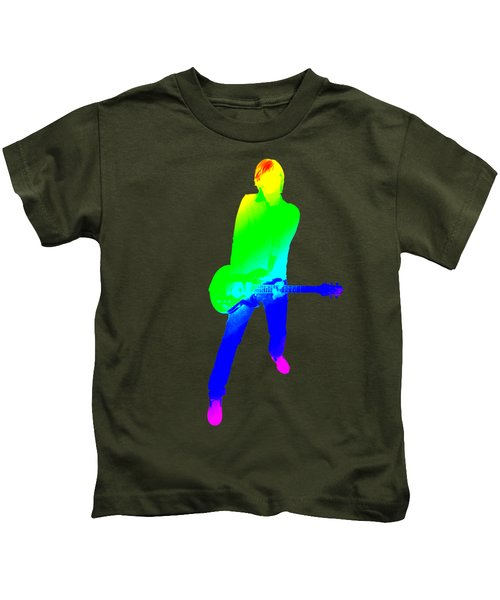 colourful guitar player. Music is my passion Kids T-Shirt