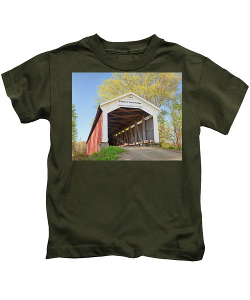 Conley's Ford Covered Bridge Kids T-Shirt