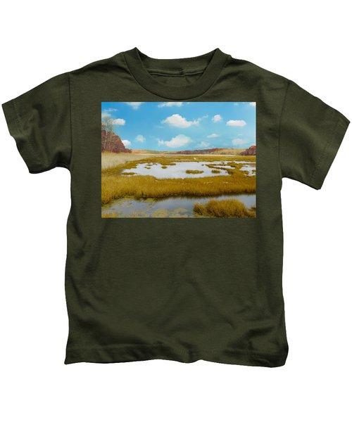 Connecticut Salt Water Marsh Kids T-Shirt