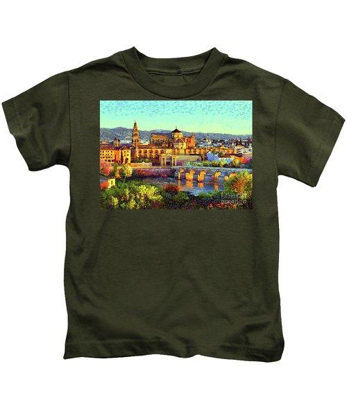 Cordoba Mosque Cathedral Mezquita Kids T-Shirt