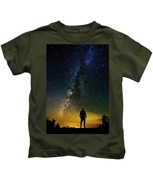 Cosmic Contemplation Kids T-Shirt