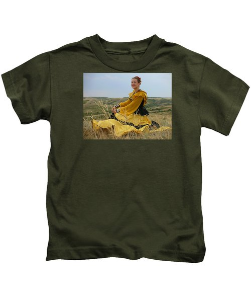 Cossack Young Lady Kids T-Shirt