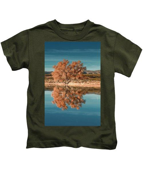 Cotton Wood Tree  Kids T-Shirt