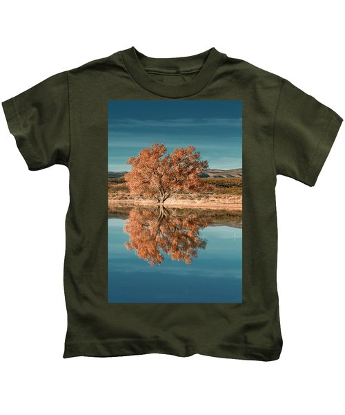 Cotton Wood Tree  Kids T-Shirt
