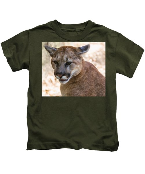 Cougar Portrait Kids T-Shirt