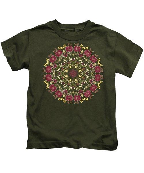 Country Apple Kaleidoscope Pattern Kids T-Shirt