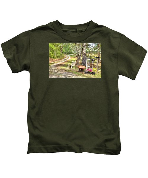 Country Driveway In Springtime Kids T-Shirt