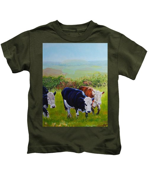 Cows And English Landscape Kids T-Shirt