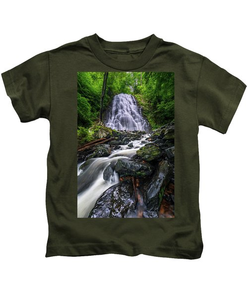 Crabtree Falls North Carolina Kids T-Shirt