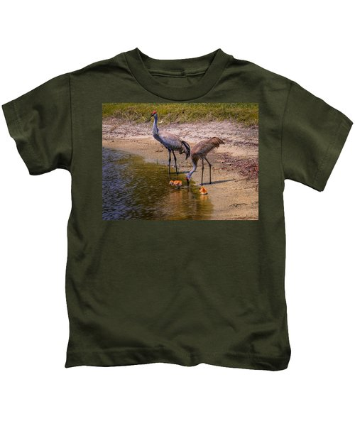 Cranes In The Lake Kids T-Shirt