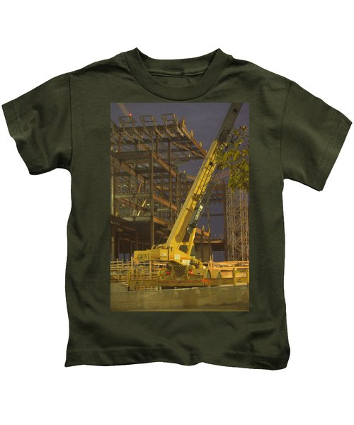 Craning And Working Kids T-Shirt