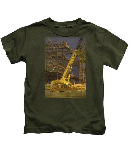 Craning And Working Kids T-Shirt
