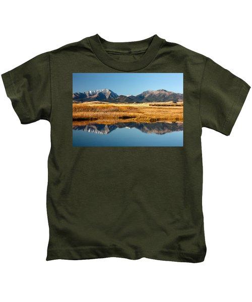 Crazy Mountain Reflections Kids T-Shirt