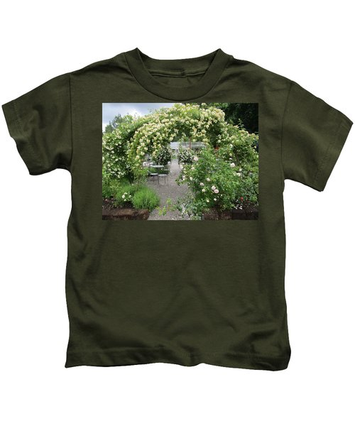 Cream-colored Roses With Your Coffee Kids T-Shirt
