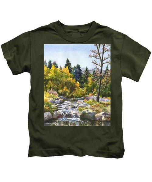 Creek At Caribou Ranch Kids T-Shirt