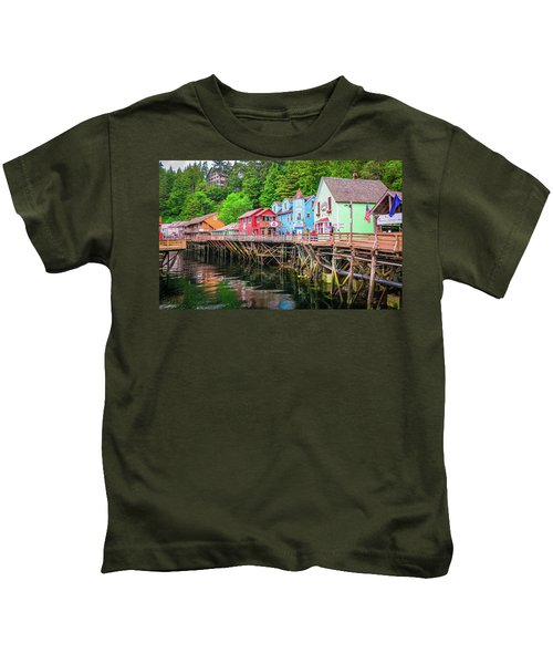 Creek Street Ketchikan Alaska Kids T-Shirt