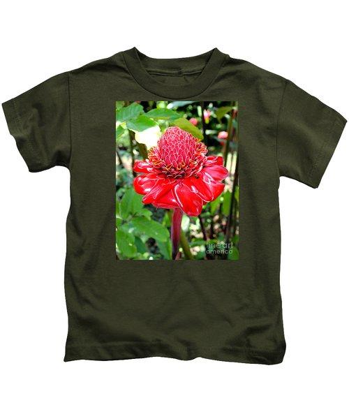 Crimson Bloom Kids T-Shirt
