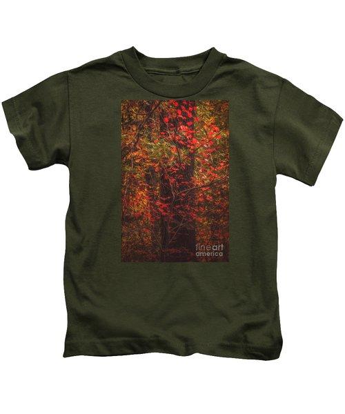 Crimson Fall Kids T-Shirt