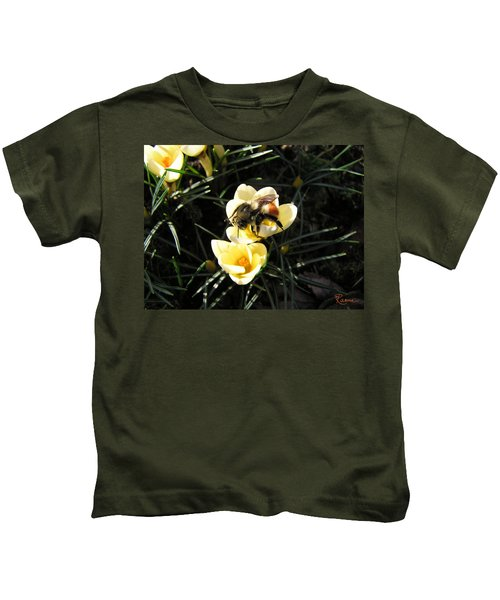 Crocus Gold Kids T-Shirt