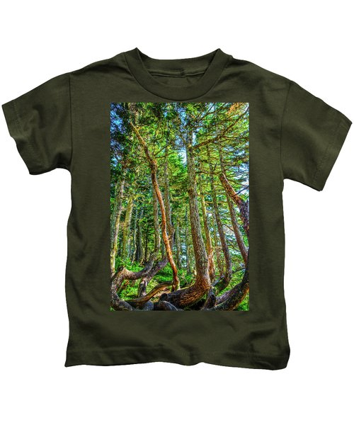 Crooked Trees Of Mt Roberts Kids T-Shirt