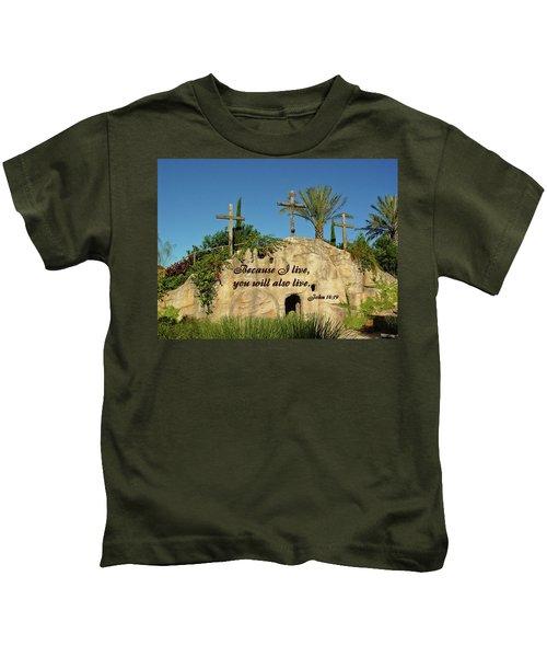 Crosses And Resurrection Kids T-Shirt