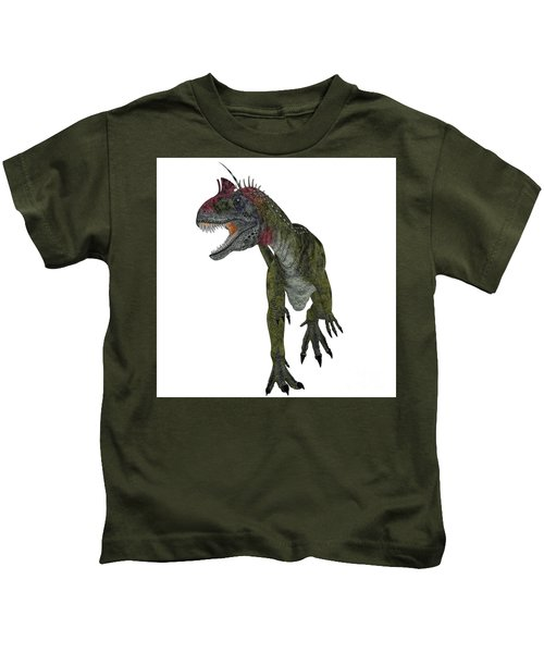 Cryolophosaurus Dinosaur Aggression Kids T-Shirt