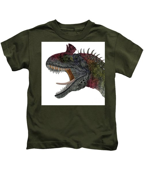 Cryolophosaurus Dinosaur Head Kids T-Shirt
