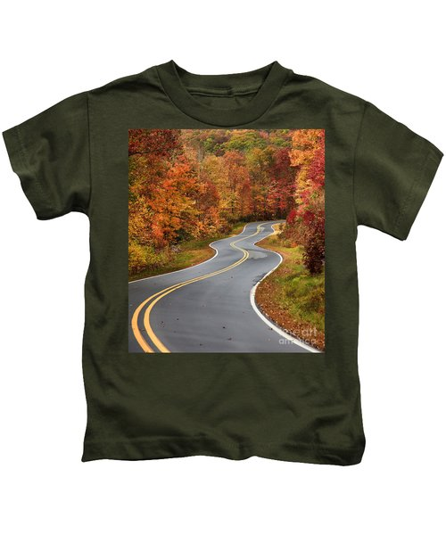 Curvy Road In The Mountains Kids T-Shirt
