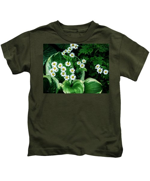 Daisies And Hosta In Colour Kids T-Shirt
