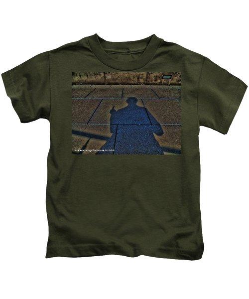 Damn Shadow Figure Kids T-Shirt