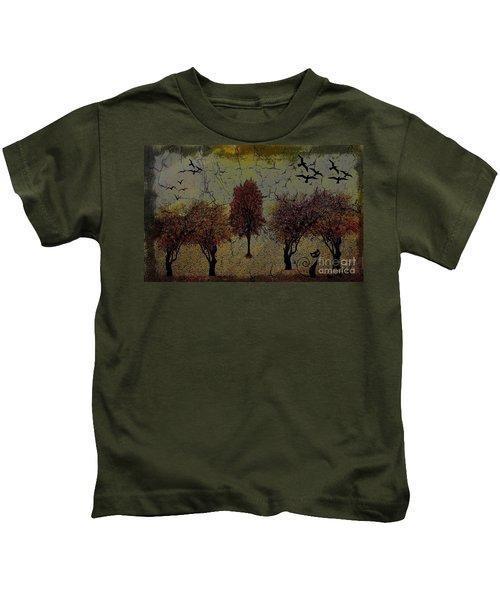 Dark Autumn Night Kids T-Shirt
