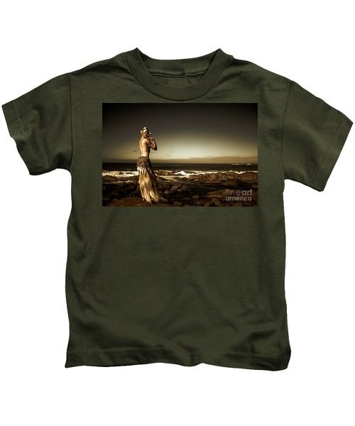 Dark Dramatic Fine Art Beauty Kids T-Shirt