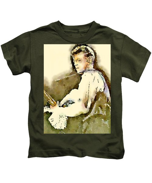 David Bowie By John Springfield Kids T-Shirt