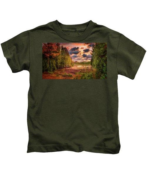 Dawn At The Lake Kids T-Shirt
