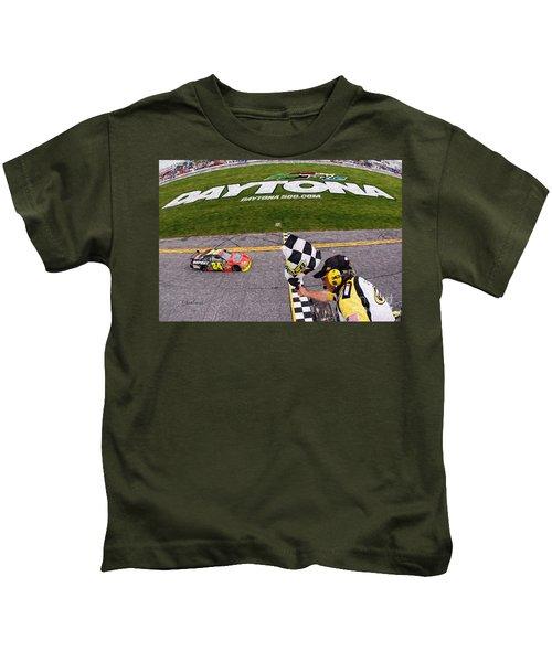 Daytona Speedway Winner Jeff Gordon  Kids T-Shirt