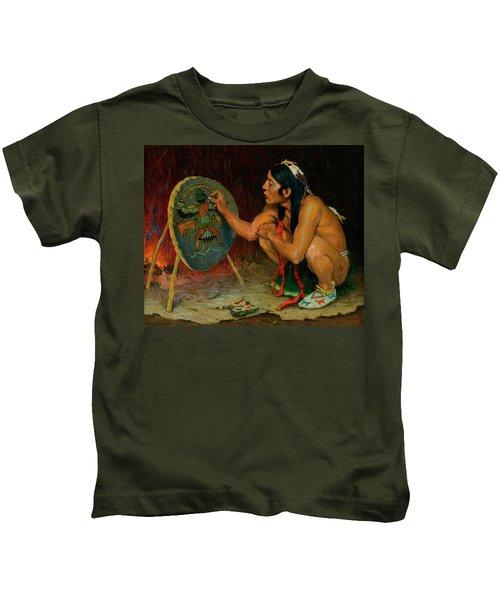 Decorating The War Shield Kids T-Shirt