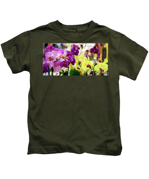 Decorative Orchids Still Life B82418 Kids T-Shirt