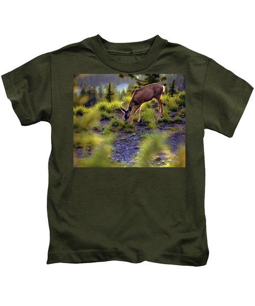 Deer At Crater Lake, Oregon Kids T-Shirt