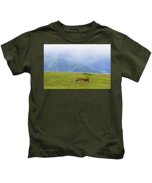 Deer In Browse Kids T-Shirt
