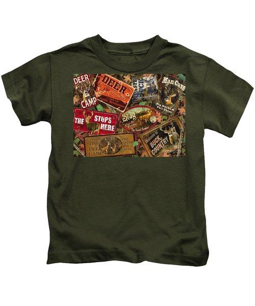 Deer Sign Collage Kids T-Shirt