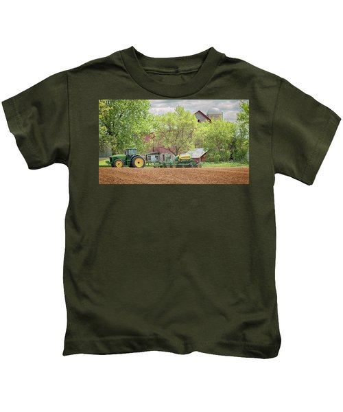 Deere On The Farm Kids T-Shirt